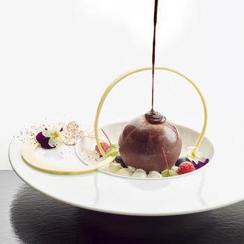 chocolade bol passie / vanilleijs