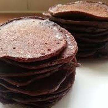 mini pannenkoeken met chocolade