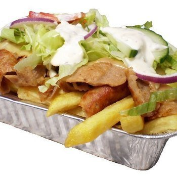 kebab met frietjes