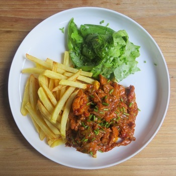 gyros met frietjes (+ 1 kleine friet)