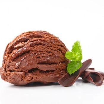 suikervrije chocolade ijs